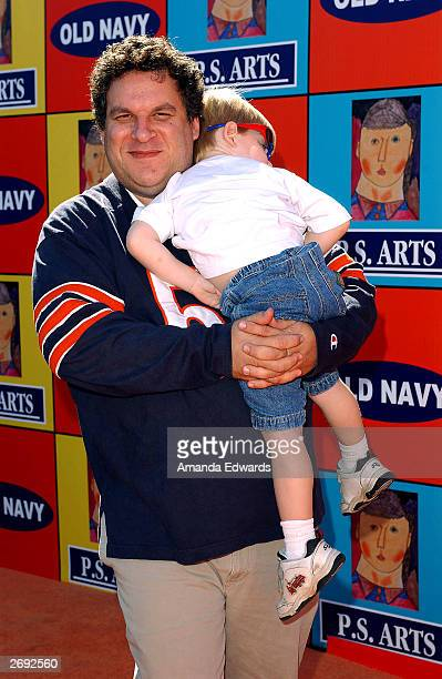 Actor Jeff Garlin and his son Duke arrive at PS Art's Express Yourself 2003 Street Fair at 72 Market Street on November 2 2003 in Venice California