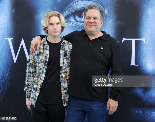 Actor Jeff Garlin and son Duke Garlin arrive at the premiere of HBO's Game Of Thrones Season 7 at Walt Disney Concert Hall on July 12 2017 in Los...