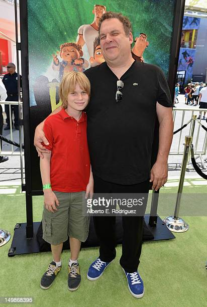 Actor Jeff Garlin and son Duke Garlin arrive to the premiere of Focus Features' ParaNorman at Universal CityWalk on August 5 2012 in Universal City...