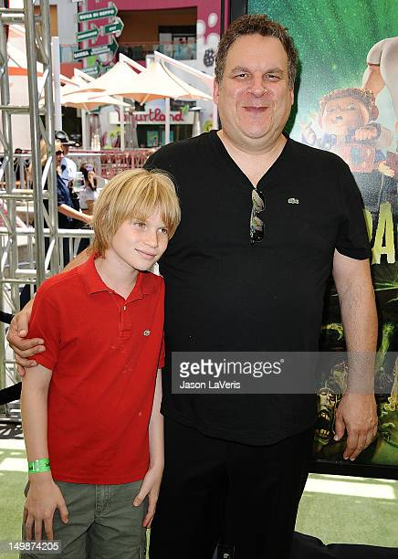 Actor Jeff Garlin and son Duke Garlin attend the premiere of ParaNorman at AMC CityWalk Stadium 19 at Universal Studios Hollywood on August 5 2012 in...