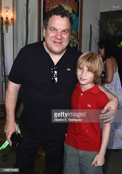 Actor Jeff Garlin and son Duke Garlin attend the preparty for the premiere of Focus Features' ParaNorman at Universal CityWalk on August 5 2012 in...
