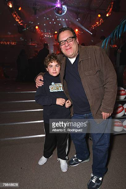 Actor Jeff Garlin and son James Garlin attend the after party for the premiere of New Line Cinema's Semi Pro held on February 19 2008 in Westwood...