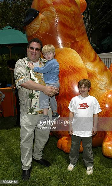 Actor Jeff Garlin and sons Duke and James attend an afterparty for the premiere of Garfield The Movie at the Twentieth Century Fox studio lot on June...