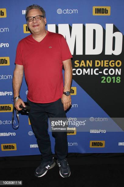 Writer Jeph Loeb and host Kevin Smith attend the #IMDboat At San Diego ComicCon 2018 Day Three at The IMDb Yacht on July 21 2018 in San Diego...