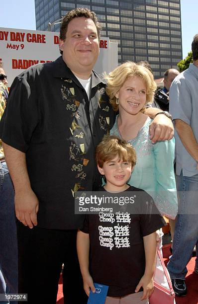 Actor Jeff Garlin wife Marla and son James arrive at the premiere of the feature film Daddy Day Care on May 4 2003 in Los Angeles California