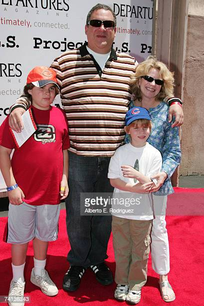 Actor Jeff Garlin wife Marla and sons James and Duke arrive at the 6th Annual Project ALS Benefit on the New York Street set of Paramount Studios on...