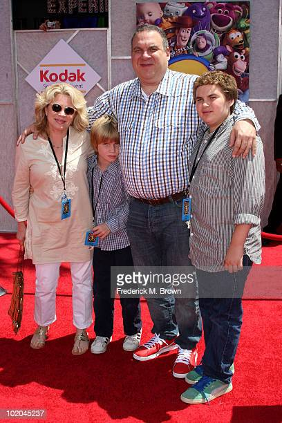 Actor Jeff Garlin wife Marla Garlin sons James and Duke arrive at premiere of Walt Disney Pictures' Toy Story 3 held at El Capitan Theatre on June 13...
