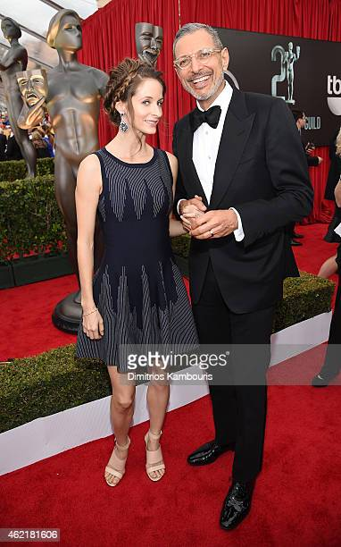 Actor Jeff Goldblum and dancer Emilie Livingston attend TNT's 21st Annual Screen Actors Guild Awards at The Shrine Auditorium on January 25 2015 in...