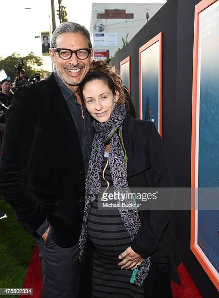 Actor Jeff Goldblum and Emilie Livingston arrives at the premiere of Fox Searchlight Pictures' 'Me And Earl And The Dying Girl' at the Harmony Gold...