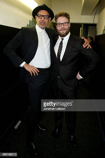 Actor Jeff Goldblum and Hilarity for Charity co-founder/show host Seth Rogen attend Hilarity for Charity's annual variety show: James Franco's Bar...