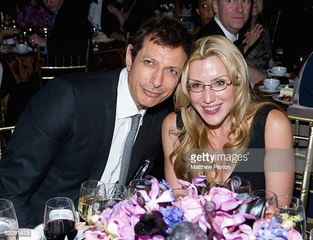 Actor Jeff Goldblum and Prudential Douglas Elliman Vice Chairman Dolly Lenz attend the 2008 Princess Grace Awards Gala at Cipriani 42nd Street on...