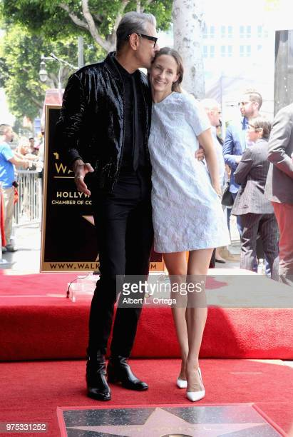Actor Jeff Goldblum and wife Emilie Livingston at Jeff Goldblum's Star on the Hollywood Walk of Fame on June 14 2018 in Hollywood California