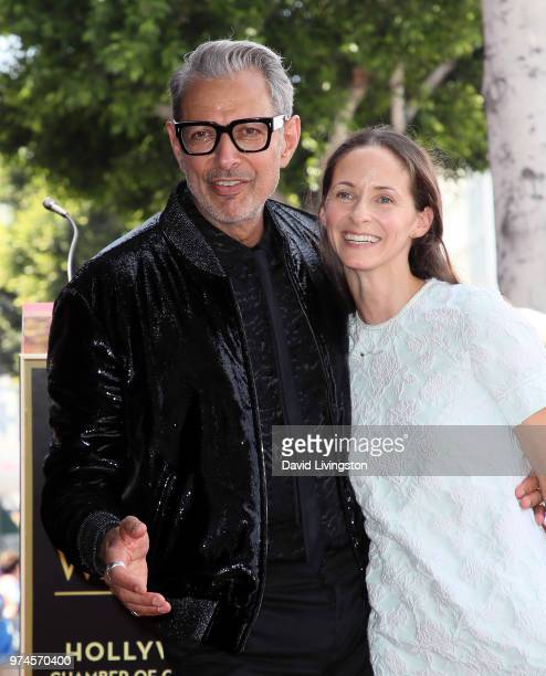 Actor Jeff Goldblum and wife Emilie Livingston attend his being honored with a Star on the Hollywood Walk of Fame on June 14 2018 in Hollywood...