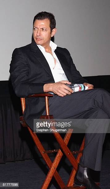 "Actor Jeff Goldblum answers questions from the audience during the Q & A following the Variety Screening Series - ""The Life Aquatic with Steve..."
