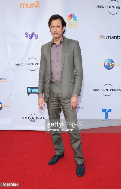Actor Jeff Goldblum arrives at the Cable Show 2010 featuring an evening with NBC Universal at Universal Studios Hollywood on May 12 2010 in Universal...