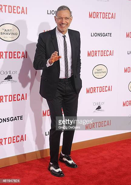 Actor Jeff Goldblum arrives at the Los Angeles premiere of Mortdecai at TCL Chinese Theatre on January 21 2015 in Hollywood California