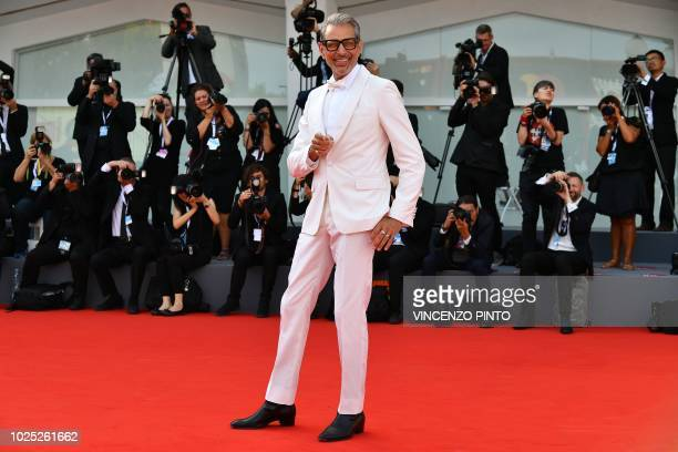 Actor Jeff Goldblum arrives for the premiere of the film The Mountain presented in competition on August 30 2018 during the 75th Venice Film Festival...