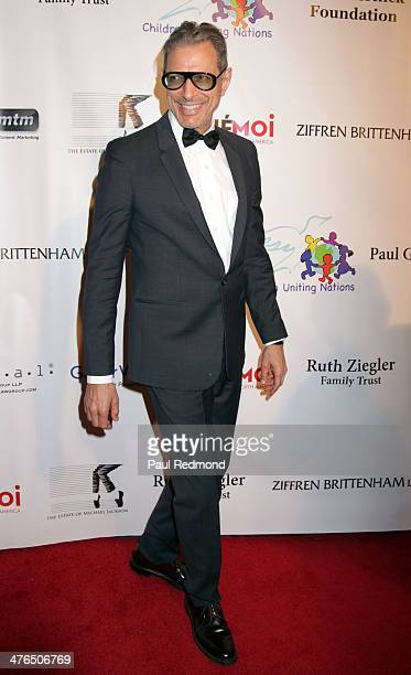 Actor Jeff Goldblum attending the 15th Annual Academy Awards Viewing Party Benefiting Children Uniting Nations at Warner Bros Estate on March 2 2014...
