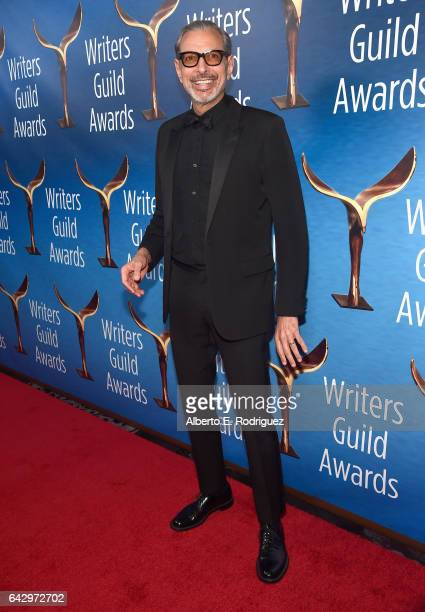 Actor Jeff Goldblum attends the 2017 Writers Guild Awards LA Ceremony at The Beverly Hilton Hotel on February 19 2017 in Beverly Hills California