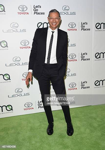 Actor Jeff Goldblum attends the 24th Annual Environmental Media Awards presented by Toyota and Lexus at Warner Bros Studio on October 18 2014 in...