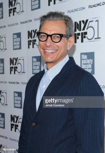 Actor Jeff Goldblum attends the 'Le WeekEnd' premiere during the 51st New York Film Festival at Alice Tully Hall at Lincoln Center on September 29...