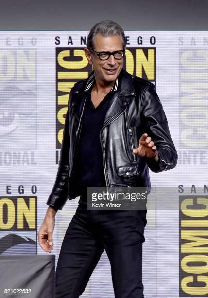 Actor Jeff Goldblum attends the Marvel Studios 'Thor Ragnarok' Presentation during ComicCon International 2017 at San Diego Convention Center on July...