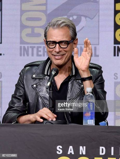 Actor Jeff Goldblum attends the Marvel Studios 'Thor Ragnarok' Presentation during ComicCon International 2017 at San Diego Convention Center on July...