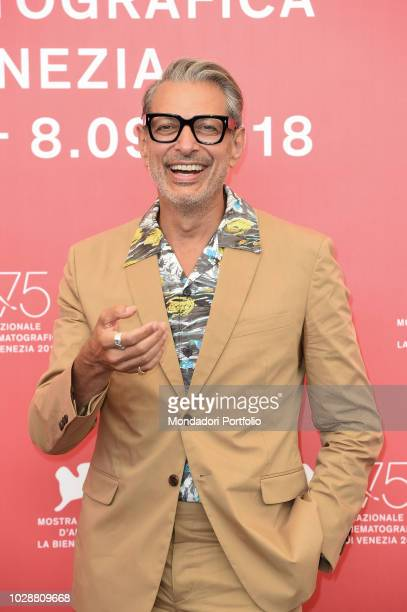 US actor Jeff Goldblum attends The Mountain movie photocall during the at 75th Venice Film Festival Venice August 30th 2018