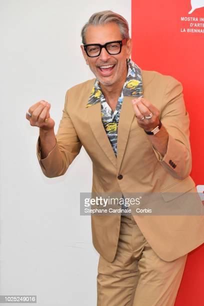 Actor Jeff Goldblum attends 'The Mountain' photocall during the 75th Venice Film Festival at Sala Casino on August 30 2018 in Venice Italy