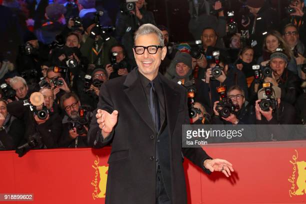 US actor Jeff Goldblum attends the Opening Ceremony 'Isle of Dogs' premiere during the 68th Berlinale International Film Festival Berlin at Berlinale...