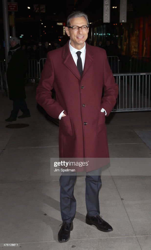 Actor Jeff Goldblum attends the 'The Grand Budapest Hotel' New York Premiere at Alice Tully Hall on February 26, 2014 in New York City.