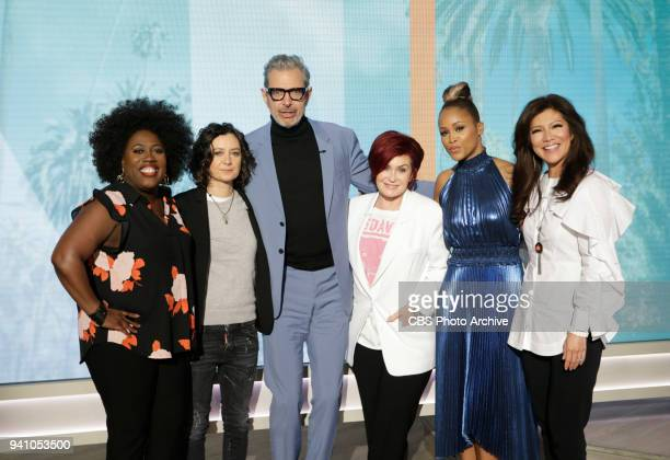 Actor Jeff Goldblum discusses his new film ÒIsle of DogsÓ on ÒThe TalkÓ Wednesday March 28 2018 on the CBS Television Network From left...