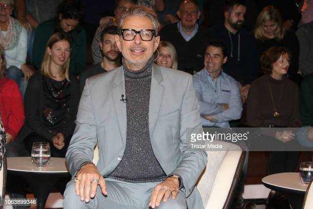 Actor Jeff Goldblum during the 'Markus Lanz' TV show on November 20, 2018 in Hamburg, Germany.