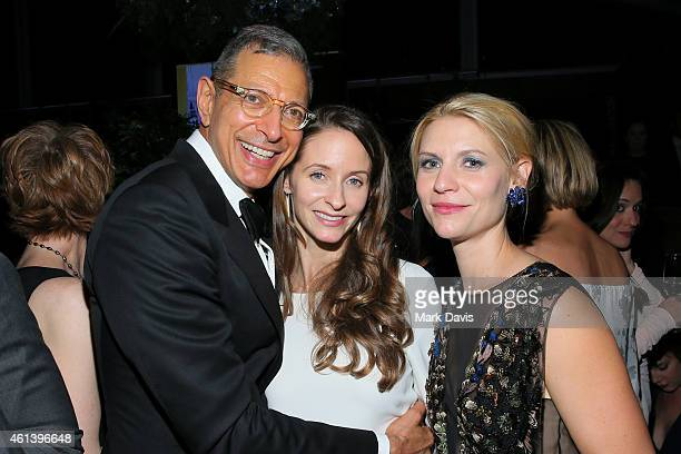 Actor Jeff Goldblum Emilie LivingstonGoldblum and Actress Claire Danes attend The 72nd Annual Golden Globe Awards at The Beverly Hilton on January 11...