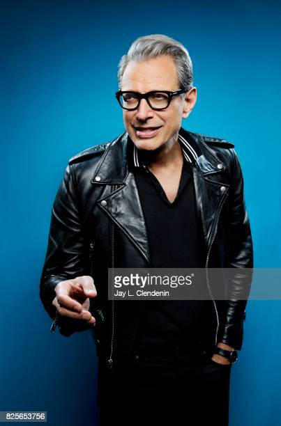 Actor Jeff Goldblum from the film 'Thor Ragnarok' is photographed in the LA Times photo studio at ComicCon 2017 in San Diego CA on July 22 2017...