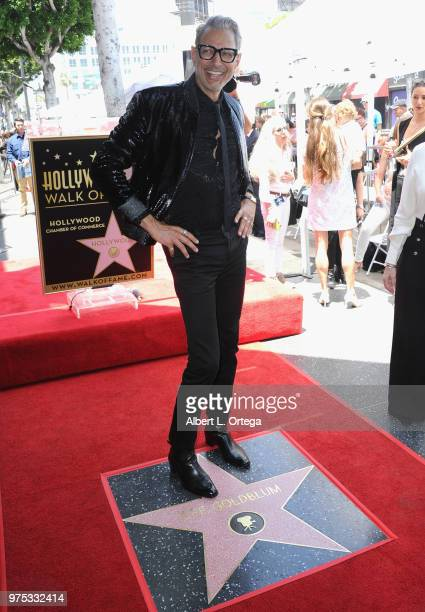 Actor Jeff Goldblum Honored With Star On The Hollywood Walk Of Fame held on June 14 2018 in Hollywood California