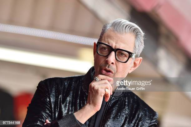 Actor Jeff Goldblum is honored with star on the Hollywood Walk of Fame on June 14, 2018 in Hollywood, California.