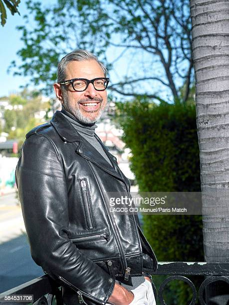 Actor Jeff Goldblum is photographed for Paris Match on April 24 2016 in Los Angeles California