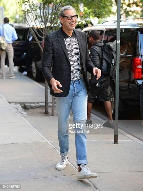 Actor Jeff Goldblum is seen walking in Soho on June 15 2016 in New York City