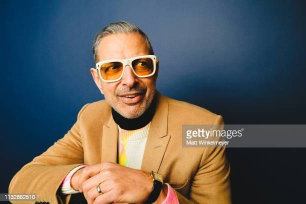Actor Jeff Goldblum poses for a portrait on January 28 201 in Park City Utah on January 28 2019 in Park City Utah