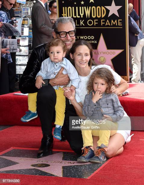Actor Jeff Goldblum wife Emilie Livingston sons Charlie Ocean Goldblum and River Joe Goldblum attend the ceremony honoring Jeff Goldblum with star on...