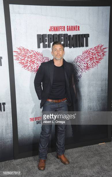Actor Jeff Hephner arrives for the Premiere Of STX Entertainment's Peppermint held at Stadium 14 on August 28 2018 in Los Angeles California