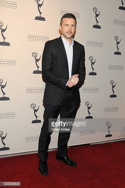 Actor Jeff Hephner attends The Academy of Television Arts Sciences An Evening With Boss Arrivals at Leonard Goldenson Theatre on November 9 2011 in...