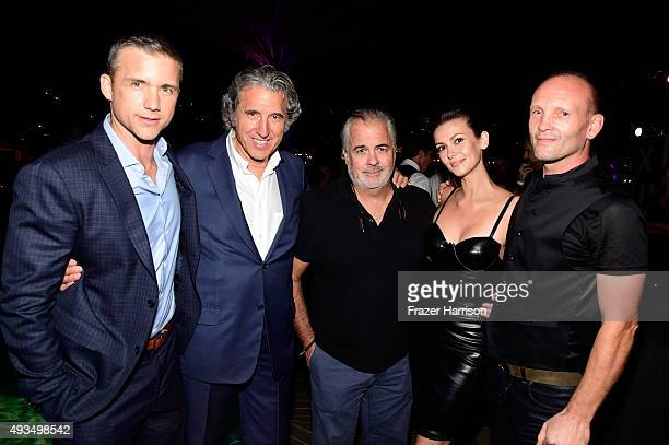 Actor Jeff Hephner Executive Producer Armyan Bernstein director Peter O'Fallon actors Olga Fonda and Andrew Howard attend TNT's Agent X screening at...