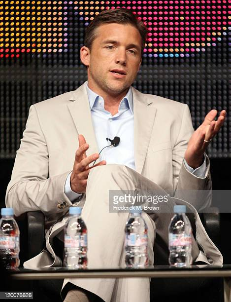 Actor Jeff Hephner speaks during the 'Boss' panel during the Starz portion of the 2011 Summer TCA Tour held at the Beverly Hilton Hotel on July 29...