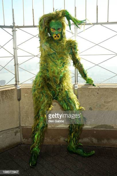 Actor Jeff McCarthy as The Grinch visits The Empire State Building on December 14 2012 in New York City