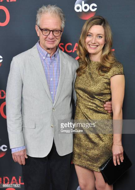 Actor Jeff Perry and daughter/actress Zoe Perry arrive at ABC's Scandal 100th Episode Celebration at Fig Olive on April 8 2017 in West Hollywood...