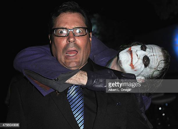 Actor Jeff Rector and cosplayer Jesse Oliva as The Joker from 'Dark Knight' attends the 41st Annual Saturn Awards After Party held at The Castaway on...