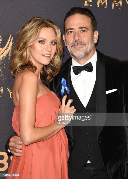 Actor Jeffrey Dean Morgan and Hilarie Burton attend the 69th Annual Primetime Emmy Awards at Microsoft Theater on September 17, 2017 in Los Angeles,...