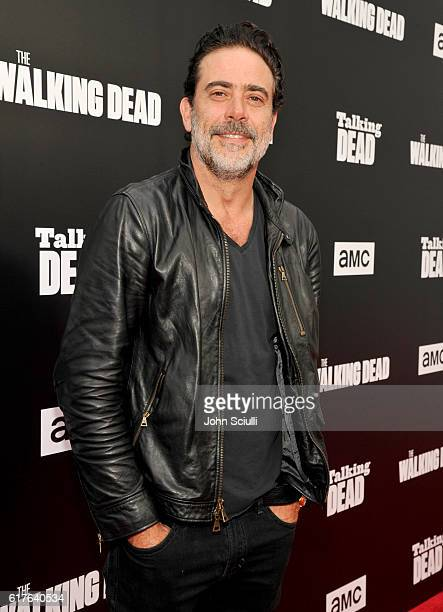 "Actor Jeffrey Dean Morgan attends AMC presents ""Talking Dead Live"" for the premiere of ""The Walking Dead"" at Hollywood Forever on October 23, 2016 in..."